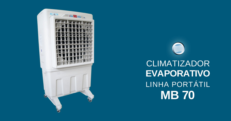 Climatizador Evaporativo Linha Portátil MB 70