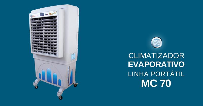 Climatizador Evaporativo Linha Portátil MC 70